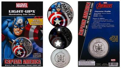 2017 Marvel Light Up Coin Captain America