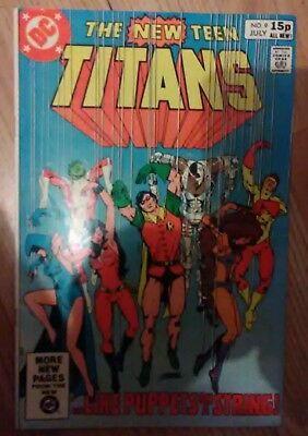 New Teen Titans Vol 1 #9 (1981) Deathstroke Cameo HIVE VF+ Combined P&P