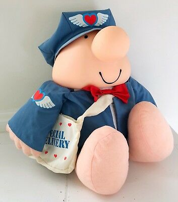 Vtg ZIGGY Collectible Mailman Postal Special Delivery Carrier Plush Vinyl 1988