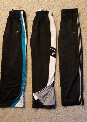 LOT of 3 Boy's NIKE Athletic Basketball Warm Up Pants L 14 16