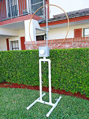BASE (COMBO) OUTDOOR! High Power Magnetic Loop Antenna 17-40 Mts OR INDOOR!