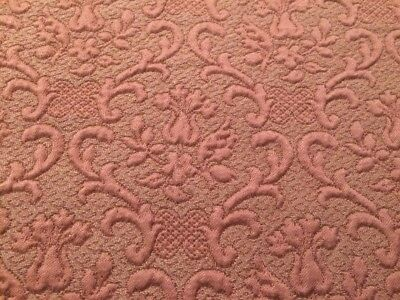 Antique Fabric In Rose Gold Color Damask Upholstery Fabric Remnant