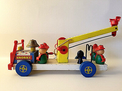 Fisher Price Snorky Fire Engine #168 1960 - ONLY MADE 1 YEAR! NICE CONDITION!!