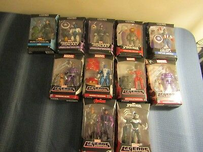LARGE LOT of 11 BUILD A FIGURES~ MARVEL LEGENDS GUARDIANS GALAXY~