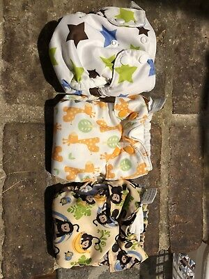 Blueberry/Swaddlebees Simplex Newborn Cloth Diaper Lot Of 3