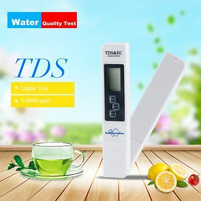 Digital TDS Meter Water Quality Purity Tester Aquarium Pool Home Water Monitor