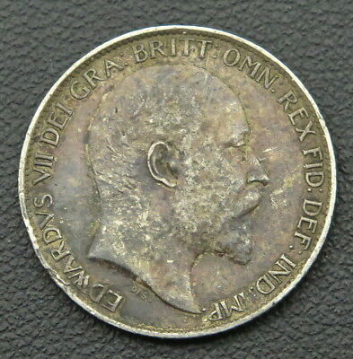 1910 UK Edward VII 6 Pence Sixpence 925 Sterling Silver Antique World Coin 2.8g