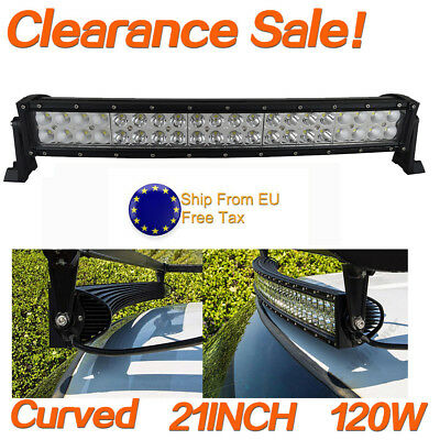 Sale 20'' Curved 120W LED Work Light Bar Combo OffRoad SUV Lamp Car Light 4WD