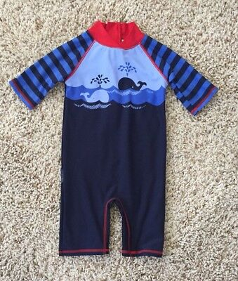 Jojo Maman Bebe Baby Boys One Piece Sun Protection Swimsuit. 1-2 Years