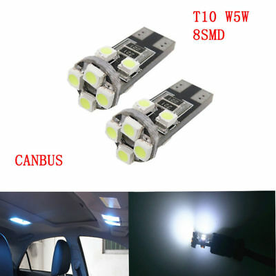 2/4/10Pcs T10 W5W 501 8 Smd Canbus Error Free Xenon Hid Pure Side Light Bulbs