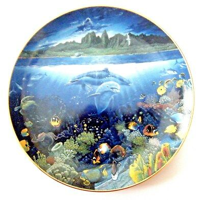 Danbury Underwater Paradise A Discovery Off Anahola Dolphins Collector's Plate