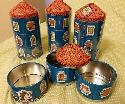 Moomin Characters Moomin House 3 stack Metal Container one set 1