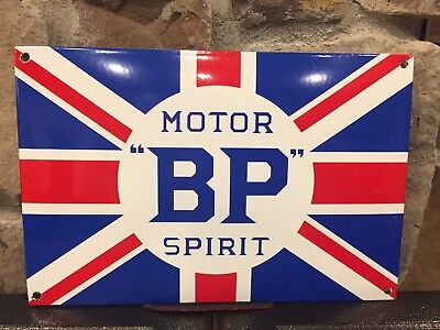 BP Motor Spirit Porcelain Sign