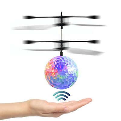 Hand Flying UFO Ball LED Mini Induction Suspension RC Aircraft Flying Toy Ball U