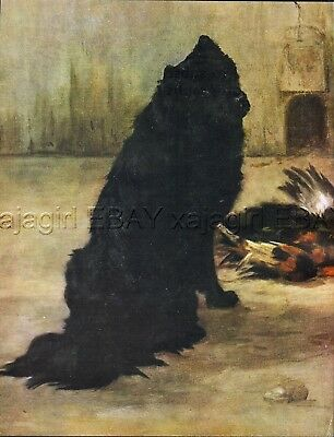 DOG Chow Chow Champion Papoose, Beautiful 1930s Color Linen Print by Maud Earl