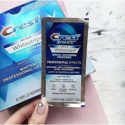 Crest 3D Whitestrips Professional Effects~10 Strips=5 Treatments~Avoid Fake Luxe