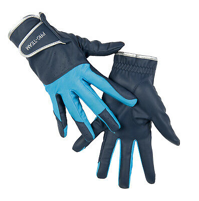 HKM PRO TEAM Riding Gloves - Neon Sports - With Elastic