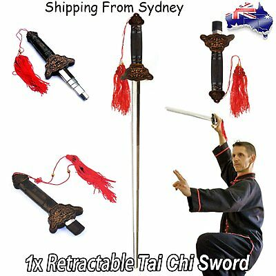 1x  Retractable Magic Performance Sword Adjustable Chinese Martial art Tai Chi