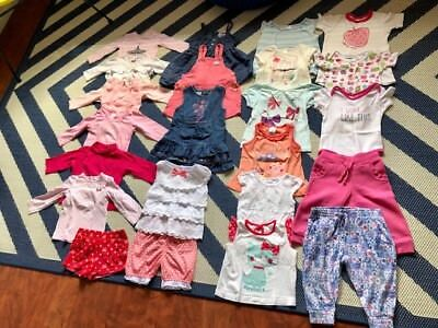 Baby Girl Bulk Clothes Size 0 - Pumpkin Patch; Milky; Sprout; Osh Kosh; Carter's