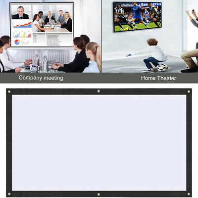 Soft Projection Curtain Movie Screen Polyester 60 Inch Portable Video School