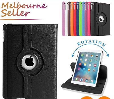 "New iPad 6th-Gen 9.7"" 2018 Model Smart Leather Case Rotate iPad 6 Flip Case+Film"
