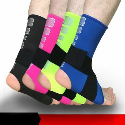 US Elastic Protective Ankle Brace Sleeve Support Sports Gym Running Strap Gear