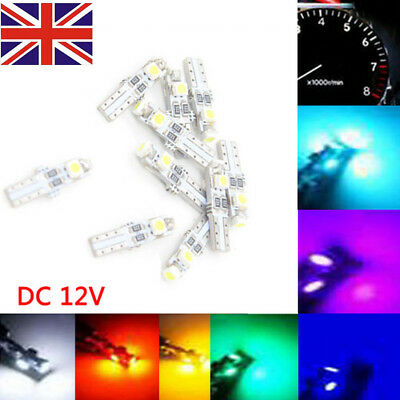 T5 286 3528 3 SMD LED Wedge LED Car Auto Dashboard Instrument Light Bulbs DC 12V