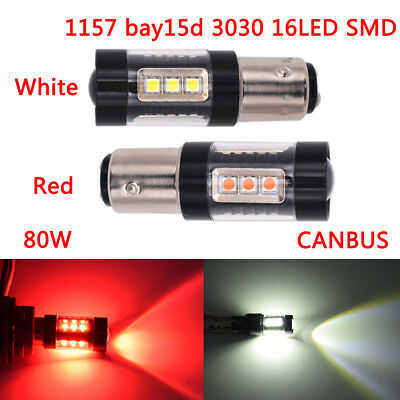 1156 bay15d 3030smd 16led Canbus Car tail trun signal light Brake light Lamp 80w