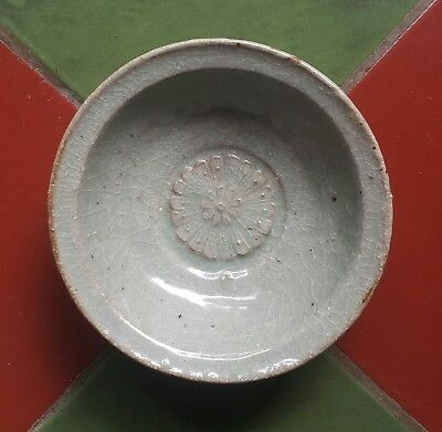 Small antique chinese green celadon song dynasty plate