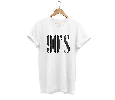 90'S T Shirt Unisex Mens Womens Funny Hipster Tumblr Swag Fashion Birthday