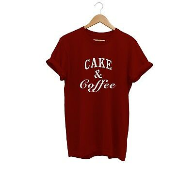 Cake And Coffee T Shirt Unisex Mens Womens Funny Hipster Tumblr Cocaine Caviar