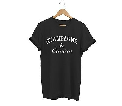 Champagne And Caviar T Shirt Unisex Mens Womens Funny Hipster Tumblr Cocaine