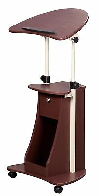 Lectern Stand Up Portable Rolling Pulpit Podium Sloping Shelf Preacher Lecturer