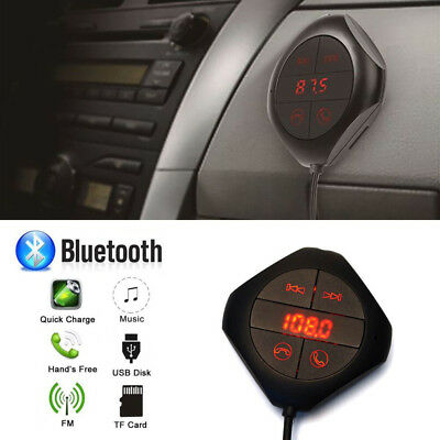 Car Bluetooth Wireless FM Transmitter USB Charger Player MP3 Handsfree Kit