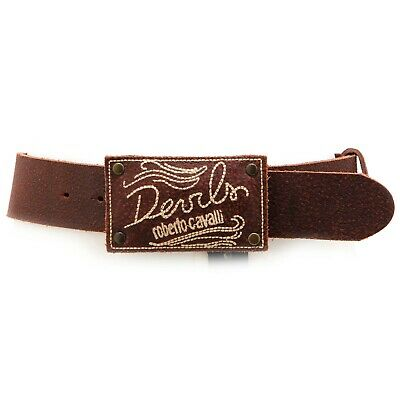 4867V cintura bimbo ROBERTO CAVALLI DEVILS brown leather belt boy kid