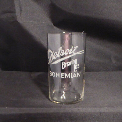Pre-prohibition Detroit Brewing Co.Beer Glass. Detrot, Mi.