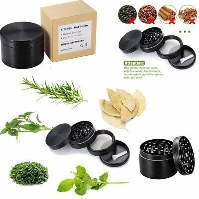 Black  4 Layers Metal Tobacco Crusher Smoke Herbal Herb Grinder US STOCK
