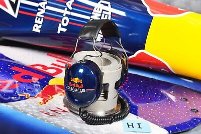 H1 PIT CREW HEADSET RED BULL RACING F1 4 TIMES WORLD CHAMPIONS  with COA F1-247