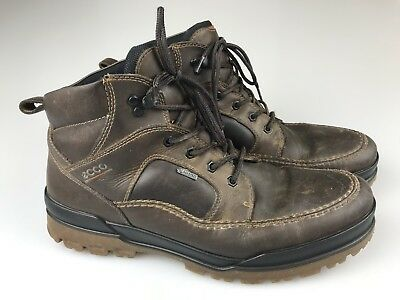 434ed417ec899 Mens ECCO GORE-TEX Waterproof Leather Lace-up HIKING BOOTS Brown sz 45 (