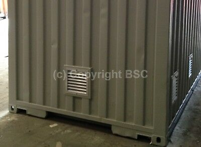 Louvre vents rodent//bird proof ventilation shipping containers 300x300mm £72+VAT