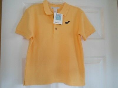Boys Toddler Janie & Jack 5T Yellow Polo Embroidered Whale On Front New with Tag
