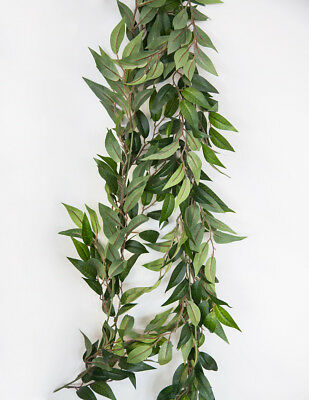 Artificial Ruscus Leaf Garland Green Gypsophila Leaf Lambs Ear Garland  Decor