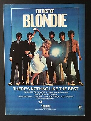"Debbie Harry / Blondie 8.5X11"" Original 1981 Album Ad For ""The Best Of Blondie"""