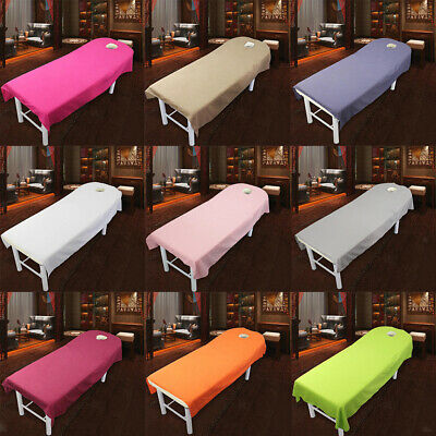 10Pcs Toweling Couch Cover Massage SPA Table Bed Couches Sheets With Face Hole