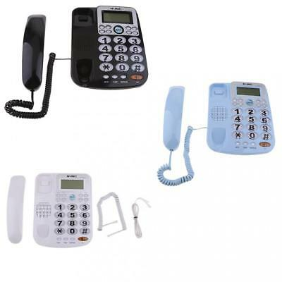 Durable Corded Wall Telephone Ring Caller ID Branch Home Office Desk Phone