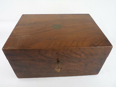 901 ANTIQUE CARRIAGE BOX WOOD ENGLAND 1890s LORD PROMOTER JOURNEY decor man cave