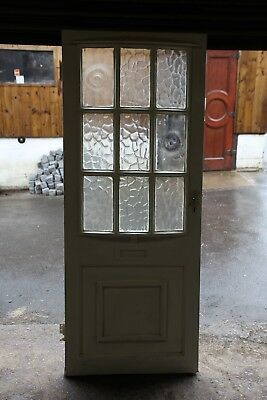 Wooden Front door with concave glass 6 foot 3 inches x 2 foot 6 inches