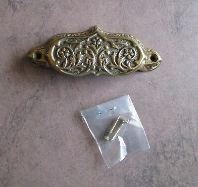 Vintage Cast Brass Ornate Bin or Drawer pull Victorian style