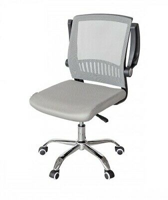 white and grey mesh office chair on wheels white and grey office