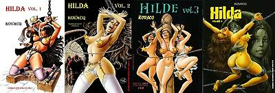 erotic graphic novel Hilda complete set part 1,2,3 and 4 by Hanz Kovacq